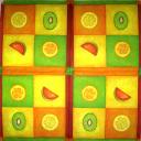 фрукты в квадратиках