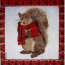 Белка в шарфе