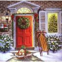 Собачка у двери