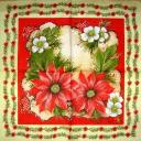 Пуансетия и цветы. Мамико.