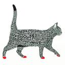 кошка из букв