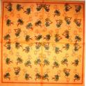 мелкие пальмочки на оранжевом