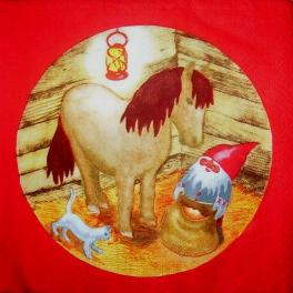 Ниссе с лошадкой и котом
