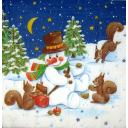 снеговик и белочки