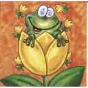 лягушонок в тюльпане