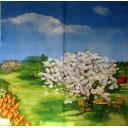 В цветущем  саду