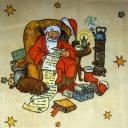 Дед Мороз, кот и собачка