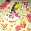 птичка с чаем
