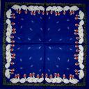 гуси на синем с перышками