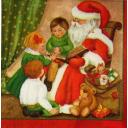 Дети и Дед Мороз с книгой