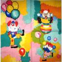 клоуны с шариками и мячиками