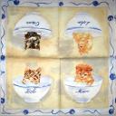 котята в чашках  и клубочки