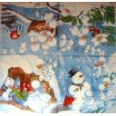 Снеговик и снежки-феечки