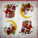 Санта с детьми и ангелом