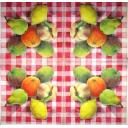 фрукты на клеточке
