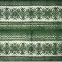 Вязаный  темно - зеленый орнамент