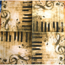 клавиши и ключ скрипичный