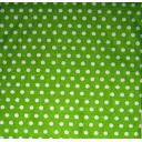 ткань горошек на зеленом