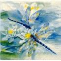 стрекозки и лилии