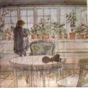 Девочка у окна. художник Карл Ларссон