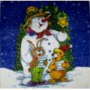 Снеговик поет с друзьями