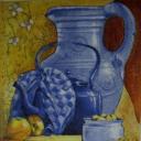 С  синим кувшином и чайником