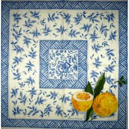 лимоны и узор Caspari