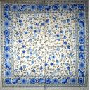 синие цветочки с каймой