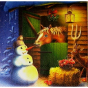 снеговик  и лошадка