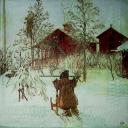 Зима. Carl Larsson's