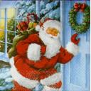 Санта с мешком подарочков