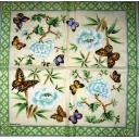 цветы и бабочки. Madame est  Servie