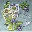 Виноград, штопор и ножнички