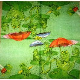 лягушки с зонтами