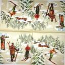 Лыжники Madame est Servie