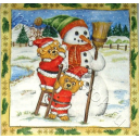 Снеговик и мишки