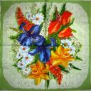 Ирис и цветы на кружеве