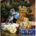 котята возле елки