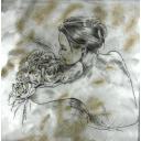 девушка с розами, эскиз