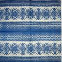 вязанный узор синий 25х25