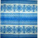 Вязаный голубой узор