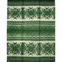 вязанный  темно зеленый 33 х 42