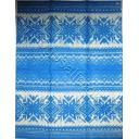 вязанный  голубой   33 х 42