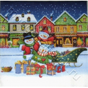 три снеговика с подарками