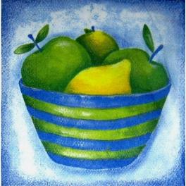 яблоки и лимон