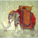 Индийский слон нарядный