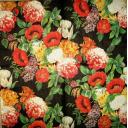 маки в  цветы на черном фоне
