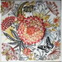 георгин и бабочки