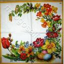 веночек с весенними цветами