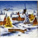 домики в  зимнюю ночь